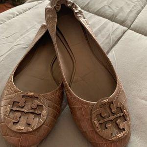 Tory Burch Croc Flats